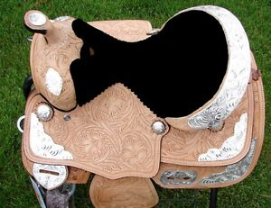 "12"" 13""  Kids Western Pony Leather Youth Saddle Silver Show New London Ontario image 8"
