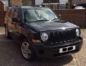 BLACK, 2008, JEEP PATRIOT, DIESEL, RECENT SERVICE, CAM BELT CHANGED, MOT June 2017 - £5095 78K