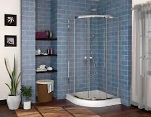 Glass Shower Door and Base -NEW-