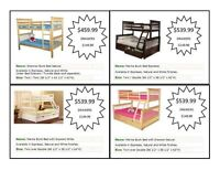 BUNK BEDS ALL STYLES INCLUDING SINGLE OVER DOUBLE