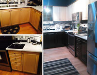 Fine Spray Painting Kitchen Cabinets call TOM: 647-761-8728