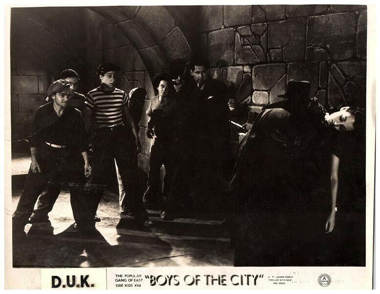 Boys of the City Original Lobby Card East Side Kids Leo Gorcey Bobby Jordan 1940