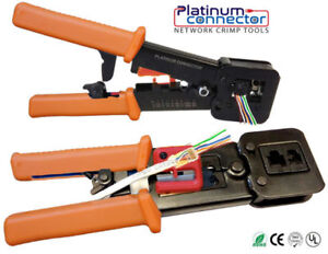 HeavyDuty Crimp Tool for End Pass Through RJ45 Network connector