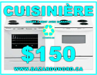 Cuisiniere remis a neuf+Garantie/ Refurbished range+Guarantee
