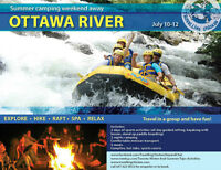 Rafting and kayaking Ottawa river July 10-12