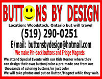 BUTTONS BY DESIGN LOOKING TO ATTEND EVENTS/CHILDRENS CORNER