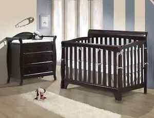 Crib and change table set - br and new