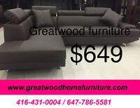 BRAND NEW MODERN SECTIONAL WITH 2 FREE PILLOWS …$649