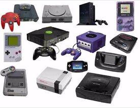 Vintage Video game Consoles , Games Wanted for cash..Nintendo , Sega ,Atari, Star Wars, ZX, etc