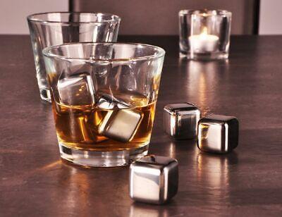 Edelstahl Eiswürfel Whiskysteine Kühlsteine Whisky Stones Dauereiswürfel Set