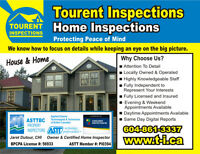 Home inspections $50 OFF inspections over $400