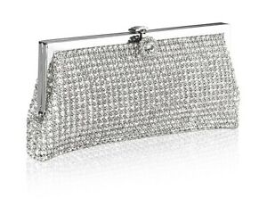 Looking silver clutch