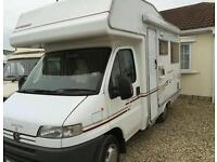 Peugeot boxer with compass avantgarde 2002 4 berth campervan