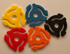 BRAND NEW! 45 RPM record adapters Package of 5 for JUST $3