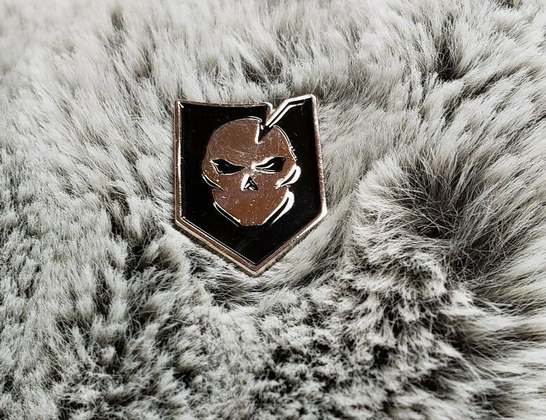 ITS Tactical Logo Morale Pin Discont. Polished Nickel With Enamel Color Fill