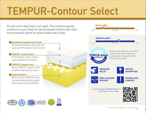 Matelas lit simple XL Tempur-Pedic Contour