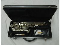 Alto Saxophone. Brand New, Nickel Plated