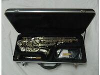 Alto Saxophone. Brand New, Nickel Plated