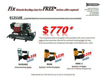 Combo Sales: Compressor ,Roofing Nailer , Repairing Services
