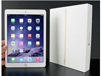IPAD AIR 2 CELLULAR UNLOCKED + WIFI WHITE AND GOLD WITH WARRANTY UNTILL AUGUST 2017 WITH + COVER