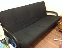 Metal Frame Futon with Mattress