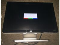 "HP w1907s 19"" widescreen LCD monitor with built in speakers,"