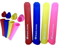 New Silicone Popsicle Molds w.lids.NO plastic.NO BPA - 4 pck