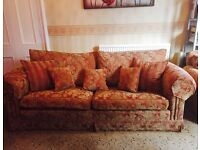 Duresta 3 piece sofa set (1x 3 seater, 1x2 seater and armchair)