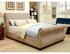 The Royale Chesterfield Sleigh Bed Single Double King Size Various Colours available Free delivery!!
