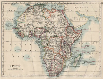 COLONIAL AFRICA. British East/Central/South Africa. Bechuanaland  1900 old map