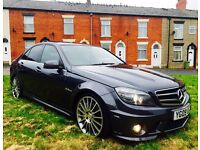MERCEDES-BENZ C63 AMG MCT 7S 4-MATIC AUTO 2009 FSH HPI CLEAR EXHAUST SYSTEM ETC!