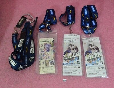 San Diego Chargers vs. Raiders 2x 2012 Tickets & 1x 2008.