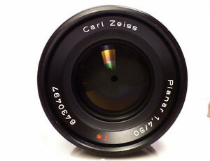 Carl Zeiss Planar T f1.4 50mm AEJ Lense for Contax/Yashica Mount Windsor Region Ontario image 3