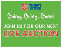SALVATION ARMY THRIFT STORE MONTHLY AUCTION