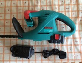 BOSCH 14.4 VOLT CORDLESS HEDGECUTTER FOR SALE , WITH BATTERY AND CHARGER
