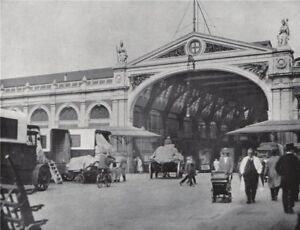 Smithfield Market . E.O. HOPPÉ. London 1930 old vintage print picture