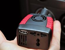 200W POWER INVERTER CAR CHARGER FOR LAPTOP CAMERA PHONE iPAD PSP+ Lindfield Ku-ring-gai Area Preview