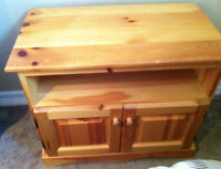 Wood Bedside Table and Cabinet