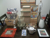 Big Lot of Home Decor Items - Mirror, Picture, etc - Greenwood