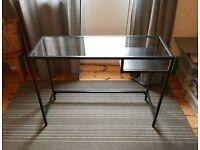 Ikea Vittsjo Laptop Desk/Table - Great for small spaces! Black/Brown Metal/Glass