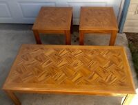 Coffee table set, real wood, like new