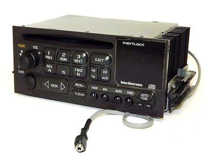 Chevy Silverado 2500 2000 - AM FM CD Player Truck Radio w Aux 3.5 mm iPod Input