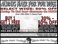 WIGS FREE, RED DEER & AREA