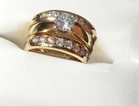 $7500 Appraisal !!!!  Excellent Wedding Set 3 Rings SEE VIDEO