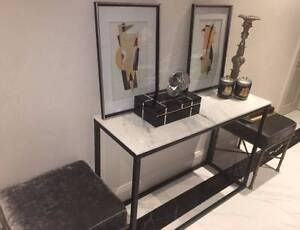 brand new designer marble top console table - designer made Darling Point Eastern Suburbs Preview