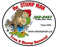Tree and stump removal, stump grinding