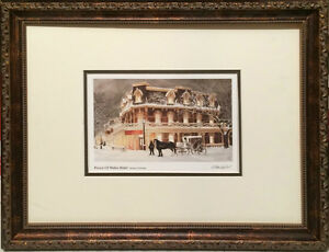 Walter Campbell Framed Art card Prince of Wales Hotel ready to