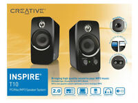 Creative Inspire T10 Speakers with BassXPort Built in Sub Very Loud Quality Sound