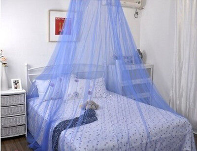 Bed outdoor Fly Insect Bug Protection Mosquito Mesh Net Canopy Dome Netting BLUE