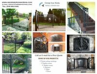 Iron Works: Metal railings, gates, fences, decorative railings